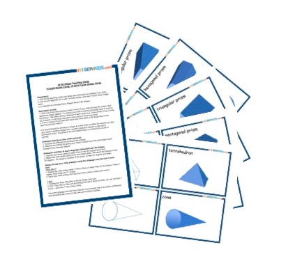 20 3D Shape Teaching Cards