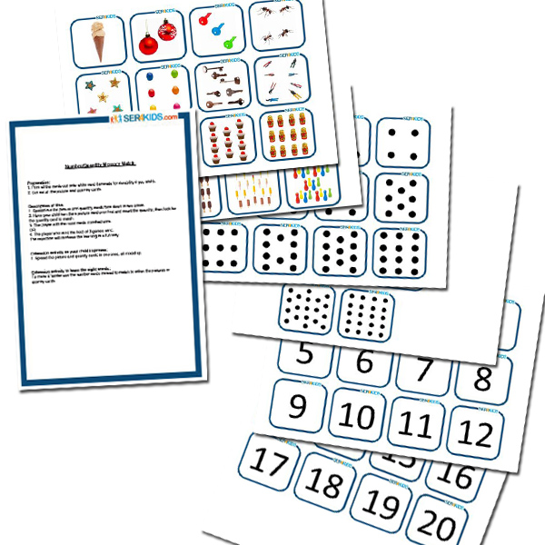 One to Twenty Number & Quantity Memory Game