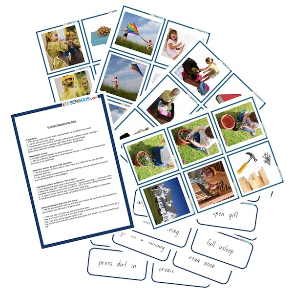 8 Sets of 'Tell Me A Story' Sequence Cards (Set A)